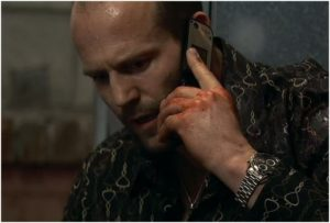 Jason Statham Wearing a Watch in Crank
