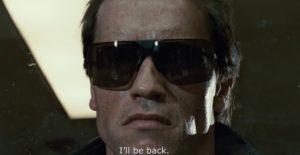Arnold Schwarzenegger in Terminator wearing Gargoyles sunglasses