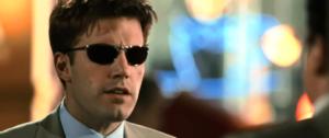 Ben Affleck wearing sunglasses in Daredevil